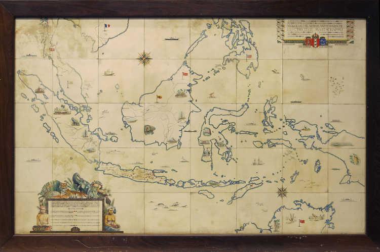 Kaart van Nederlands-Indië, 1940
