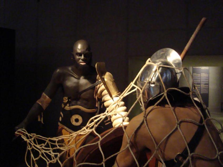 Retiarus in gevecht (© E. Ruis)