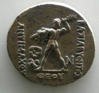 Zeus op een munt van Antimachos Theos