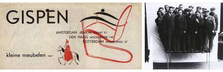 Nieuwe zakelijkheid: meubels ontworpen door Willem Gispen. Bron: http://www.gispen-design-meubelen.nl/