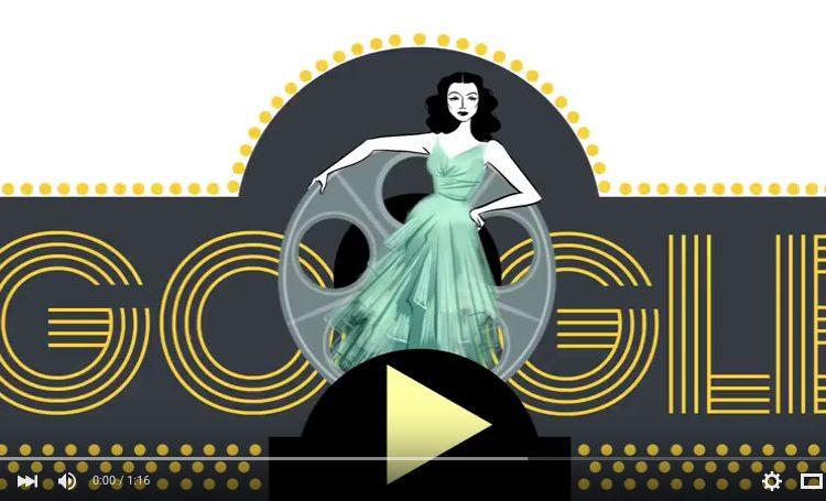 Hedy Lamarr - Google Doodle