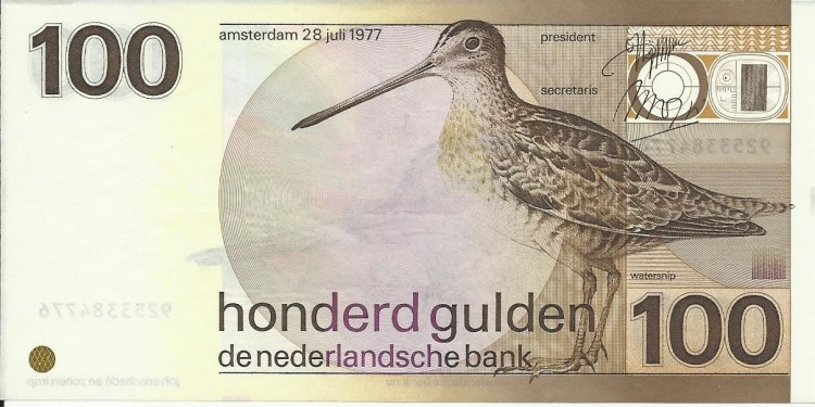 Laatste briefje van 100 gulden (muntenkabinet.nl)