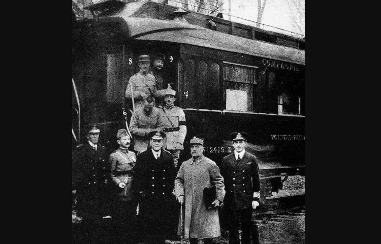 Ondertekening wapenstilstand Eerste Wereldoorlog (1918)
