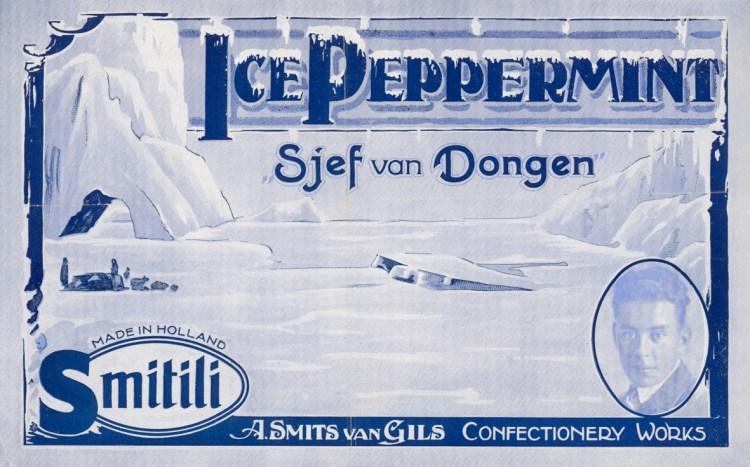 De Oosterhoutse snoepfabrikant Smits-Van Gils bracht een Sjef van Dongen Ice Peppermint op de markt. (Zeeuws Archief)