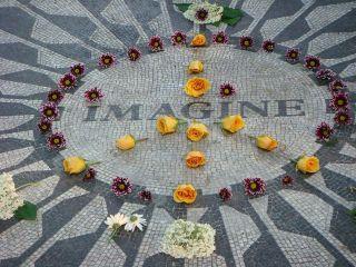 Herdenkingsmonument voor John Lennon in Central Park - cc