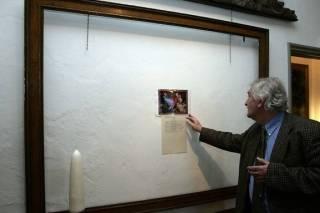 Foto gemaakt na de inbraak in het museum (WFM)