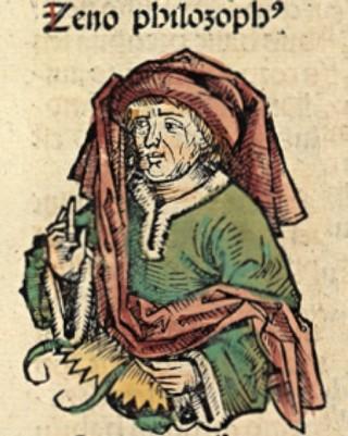 Portret van Zeno in de Neurenberger Kroniek