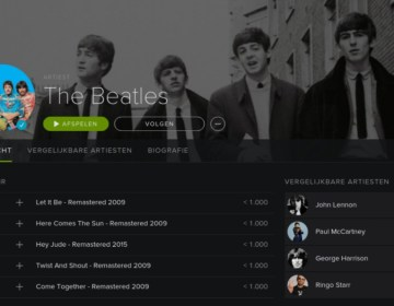 The Beatles op Spotify