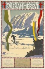 Affiche Salzkammergut door Otto Barth, ca. 1910