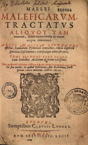 De Malleus Maleficarum  (1620), de 'Heksenhamer', was een handboek voor de heksenjacht dat gedetailleerd uitlegde hoe heksen ondervraagd moesten worden en welke foltermethoden konden worden gebruikt.