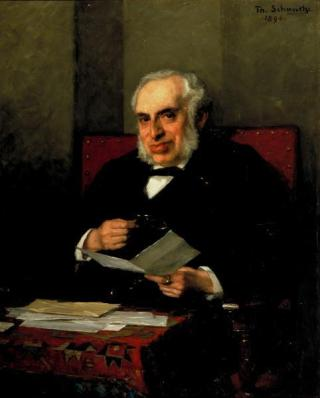 Abraham Wertheim, voorzitter van de Zuiderzeevereeniging
