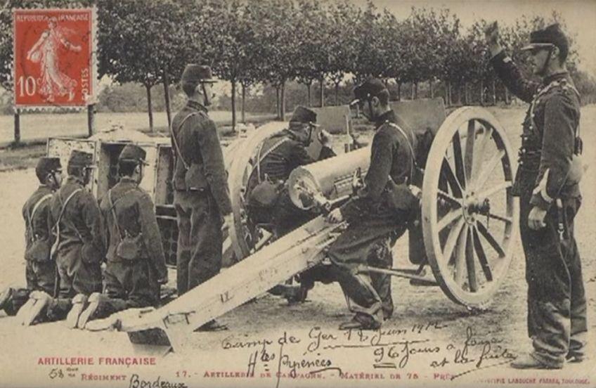 Kanon met handige munitietrailer (foto: screenshot van Mibonniers Youtube 75s).