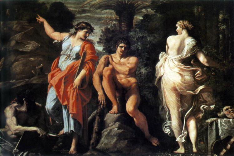 De keus van Herakles (Hercules) - Annibale Carracci, 1596