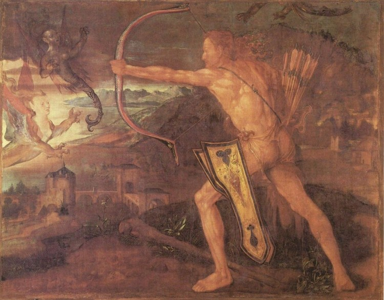 Herakles en de Stymphalische vogels - Albrecht Dürer
