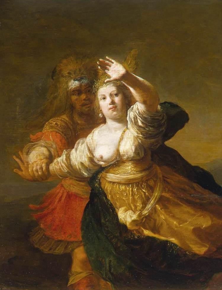 Herakles weet de gordel van de Amazone-koningin te bemachtigen - Nicolaes Knüpfer