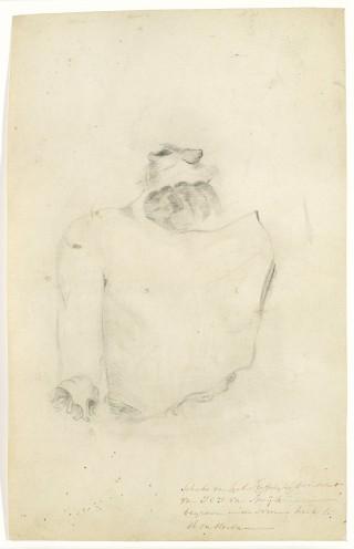 Schets van het stoffelijk overschot van J.C.J. van Speyk, Anonymous, 1831 (Rijksmuseum)