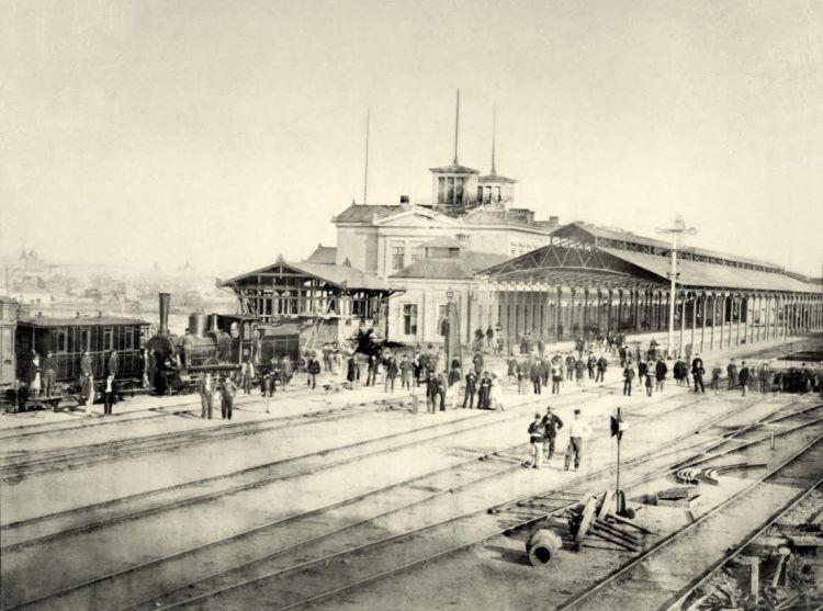 Opening van station Boekarest Noord, 1872