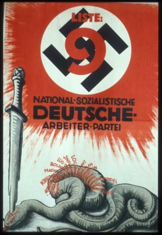 NSDAP-affiche uit 1930 met de naam Barmat. Bron: quora.com
