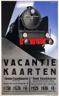 Affiche Vakantiekaarten, Jean Walther, 1938 (Van Sabben Poster Auctions)