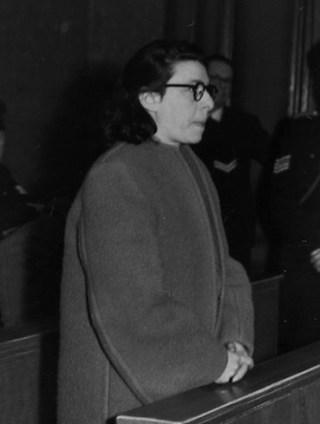 Ans van Dijk tijdens haar proces - wiki