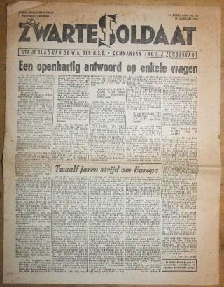 NSB-krant 'De Zwarte Soldaat'