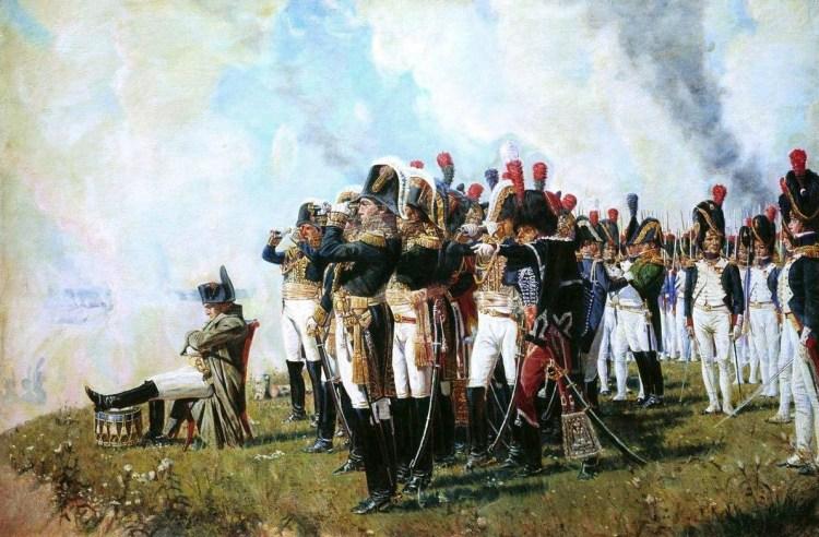 Napoleon bij de slag van Borodino - Vasili Veresjtsjagin