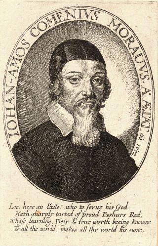 Comenius door Wenceslas Hollar