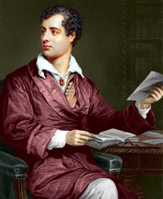 Lord Byron (1788-1824) in kleur. Bron: Wikimedia.