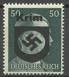 Op Duitse postzegels van 50 Pfennig werd zelfs de afbeelding van Hitler ter gelegenheid van de verovering overstempeld.