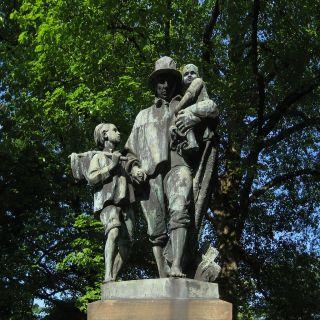 Monument voor Jozef Israëls op het Hereplein in de stad Groningen - cc