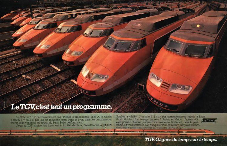 Tijdschriftadvertentie TGV, 1981   SNCF (coll. Arjan den Boer)