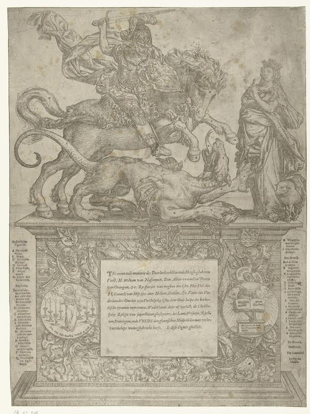 Willem van Oranje als Sint Joris ca 1577 - Rijksmuseum