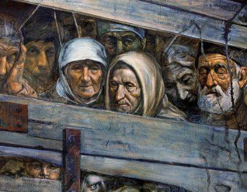 Zoals de Duitsers de Joden in veewagens naar de gaskamers brachten vervoerden de Russen de Krim-Tataren in ballingschap naar Centraal-Azië. (Illustratie JNSM.COM.UA)