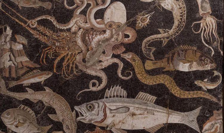 Vismozaiek - Nationaal Archeologisch Museum Napels