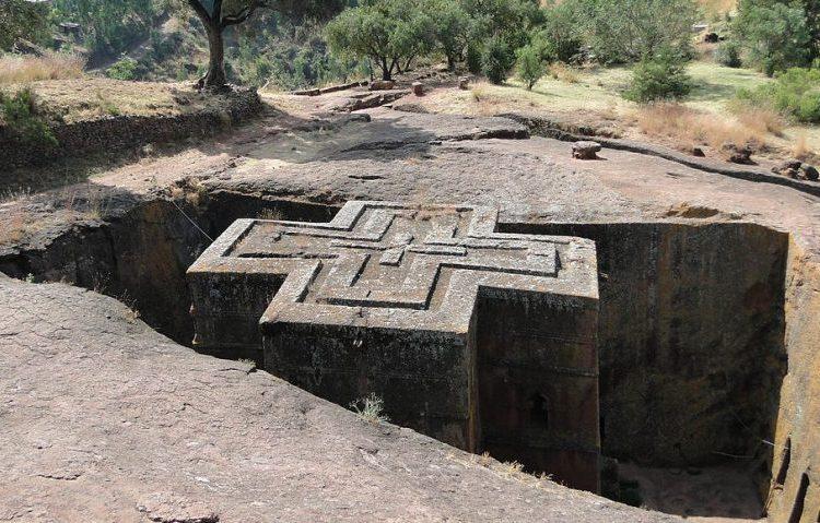 Bijzondere ondergrondse kerken van Lalibela (Ethiopië)