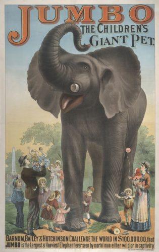 Jumboposter, circa 1883. Bron: Wikimedia