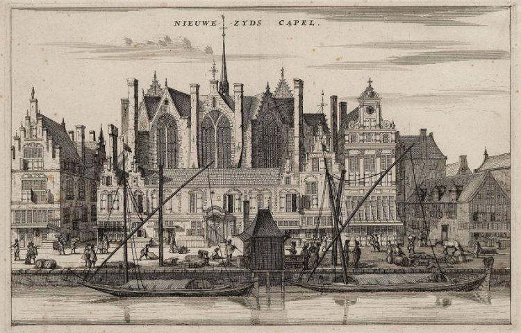 Anonieme gravure van de Nieuwezijds Kapel