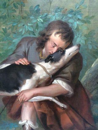 Detail - Man met hond (Dordrechts Museum)