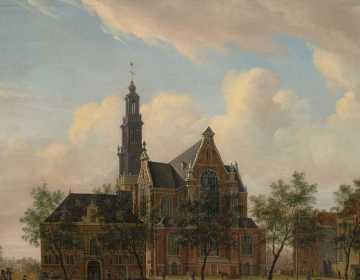 Jan Ekels. De Westerhal en de Westerkerk, 1750-1780, Collectie Amsterdam Museum