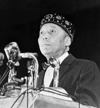Nation of Islam-leider Elijah Muhammad (1964)