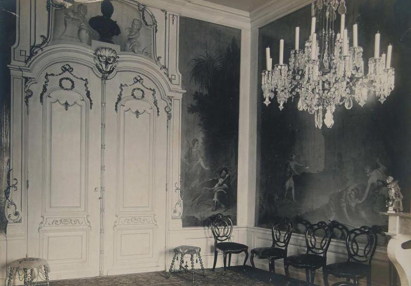Zwartwit-foto van de oorspronkelijke kamer (Dordrechts Museum)