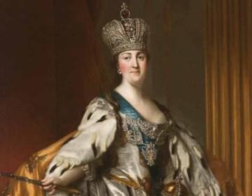 Vigilius Eriksen (1722–1782) Portret van Catharina II in kroningsgewaad, 1763–64