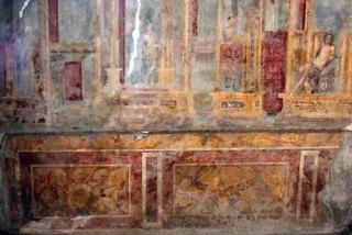 Imitatiemarmer uit een huis in Pompeii