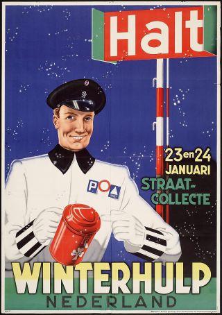 Affiche voor een Winterhulp-collecte uit 1940