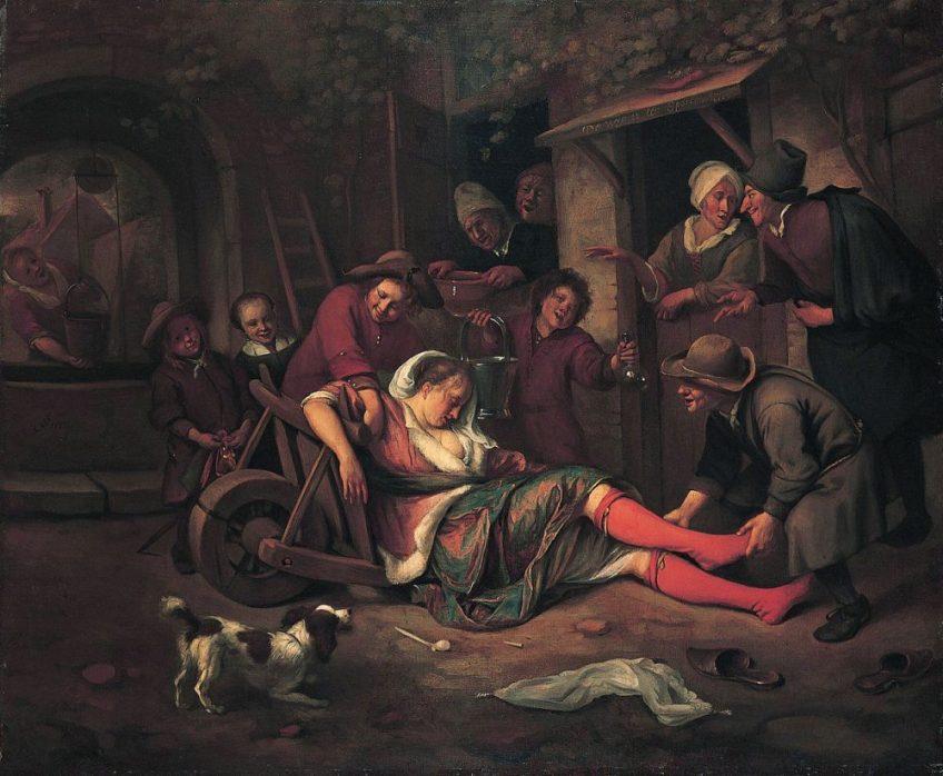 De wijn is een spotter, 1663-1664