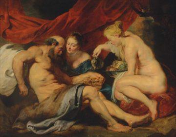 Lot en zijn dochters - Peter Paul Rubens (Christies)
