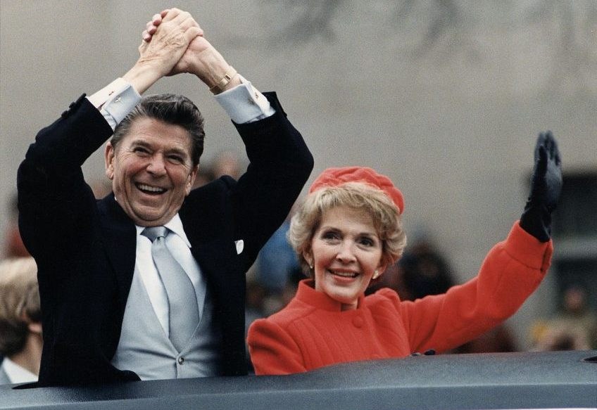Ronald Reagan na de presidentiële inauguratie in 1980 (National Archives)