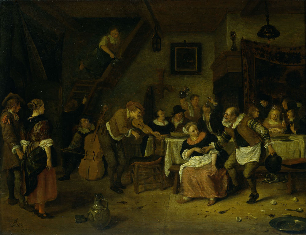 Boerenbruiloft, Jan Havicksz. Steen, 1672