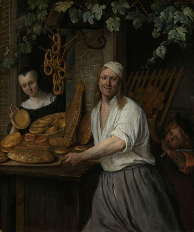 Bakker Arent Oostwaard en zijn vrouw Catharina Keizerswaard, Jan Havicksz. Steen, 1658