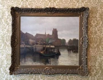 Schilderij van Wim Jansen in de Trinitatiskapel (Dordrechts Museum)